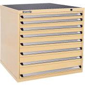 Kennedy 7-Drawer Modular Cabinet Base Model-No Lock w/Full Extension Drawers-44x30x40, Yellow