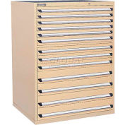 Kennedy 13-Drawer Modular Cabinet w/550 lb Cap. Full Extension Slide Drawers-44x30x60, Brown Wrinkle