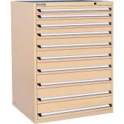 Kennedy 10-Drawer Modular Cabinet Base Model-No Lock w/Full Extension Drawers -44x30x60,Black