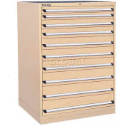 Kennedy 10-Drawer Modular Cabinet w/550 lb Cap. Full Extension Slide Drawers - 44x30x60, Red