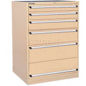 Kennedy 6-Drawer Modular Cabinet w/550 lb Cap. Full Extension Slide Drawers-44x30x60, Brown Wrinkle
