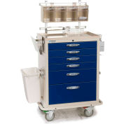 Blue Bell Medical™ BAC-27 Deluxe Anesthesia Cart 89008 - CPB Lock, 6 Drawers