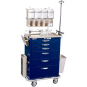 Blue Bell Medical™ BAC-30 Deluxe Anesthesia Cart 89010 - Key Lock, 6 Drawers