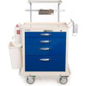 Blue Bell Medical™ BAC-22 Standard Epidural Cart 89019 - Key Lock, 4 Drawers