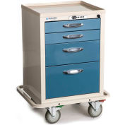Blue Bell Medical™ BAC-21C Compact Supply Cart 89031 - CPB Lock, 4 Drawers