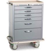 Blue Bell Medical™ BAC-27 Standard Supply Cart 89034 - CPB Lock, 6 Drawers