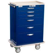 Blue Bell Medical™ BAC-30 Standard Supply Cart 89035 - CPB Lock, 6 Drawers