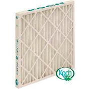"Koch™ High Capacity Multi-Pleat Green Air Filter, MERV 13, Extended Surface, 12""Wx24""Hx4""D - Pkg Qty 6"