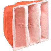 """Koch™ Filter 104-460-005 E-Pak 650 3 Pkt Paint Booth Exhaust Final Filter 20""""W x 20""""H x 15""""D - Pkg Qty 8"""