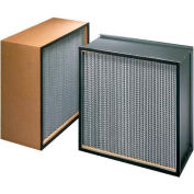 "Koch™ Filter H10A1X1 99.97% Biomax Hepa Galv. Steel /Dbl Turned Flange 5""W x 8""H x 7/8""D - Pkg Qty 4"
