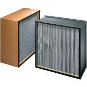 "Koch™ Filter H62A1X1 99.97% Biomax Hepa Galv Steel/Double Turned Flange 12""W x 24""H x 11-1/2""D - Pkg Qty 2"