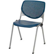 KFI Stack Chair with Perforated Back -  Plastic Seat - Navy - KOOL Series
