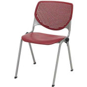 Poly Stack Chair W/ Perforated Back, Burgundy