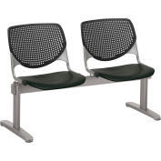 KFI Beam Seating Guest Chairs - 2 Seater - Black