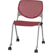 "KFI Seating 2300 Series 31""H Poly Stack Multi-Purpose Chair with Perforated Back Burgundy"