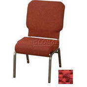 "Kfi Church Stacking Chair, 3"" Front Roll Seat, Poppy Fabric/Silver Vein Frame"