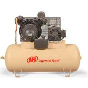 Ingersoll Rand 7100E15-V, 15HP, Two-Stage Compressor, 120 Gal, Horiz., 175 PSI, 50 CFM, 3-Phase 200V