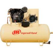 Ingersoll Rand 7100E15-VP, 15HP, Two-Stage Compressor, 120 Gal, Horiz., 175 PSI, 50 CFM,3-Phase 230V