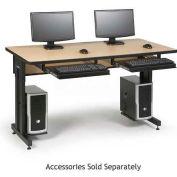 "Kendall Howard™ Classroom Training Table - Adjustable Height - 30"" x 60"" - Hard Rock Maple"