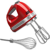KitchenAid® 7 Speed Digital Hand Mixer, Turbo Beater™ II Pro Whisk, Empire Red, KHM7210ER
