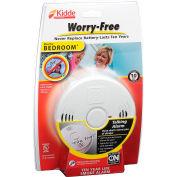 Kidde P3010B Worry-Free Smoke Alarm, Bedroom, 10-Year Sealed Lithium Battery Operated