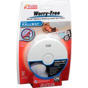 Kidde P3010H Worry-Free Smoke Alarm, Hallway 10-Year Sealed Lithium Battery Operated