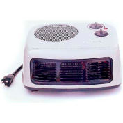 King Desktop Portable Heater HFC1215, 750/1500W, 120V, W/Thermostat And Fan Switch, Light Gray