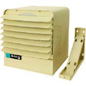 King Unit Heater KB2407-3MP-T-B2, 7KW, 240V, Single Or 3 Phase, WThermostat & Bracket, Almond