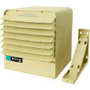 King Unit Heater KB4807-3MP-T-B2, 7KW, 480V, Single Or 3 Phase, WThermostat & Bracket, Almond