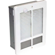 King Forced Air Wall Heater With Built-In Single Pole Thermostat W1215-T-W, 1500W,120V, White