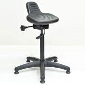 Interion® Sit Stand Stool - Polyurethane - Black
