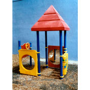 Playsystem W/Pyramid Roofs In Red/Yellow/Blue Combination, For Ages T-5  (15Mo-5Yr)