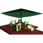 Playsystem W/Sun Shade In Green/Tan Combination, For Ages T-5  (15Mo-5Yr)