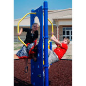 Free Standing Climber Wall In Blue/Yellow Combination, For Ages 5 To 12