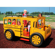 Kidvision School Bus Spring Rider In Yellow And Black Combination, For Ages 2-5