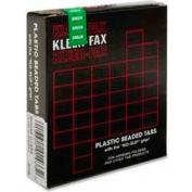 """Kleer-Fax® 1/3 Hanging File Folder Tabs, 3-1/2"""" Width, Green, 25 Tabs/Pack"""