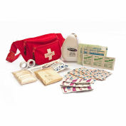 Kemp Fanny Pack Stuffed With CPR Mask/Bandages/Gauze, Red, 10-103-RED-S1