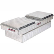 Weather Guard Truck Cross Box, Aluminum Full Extra Wide 15.3 Cu. Ft. Capacity - 114-0-01