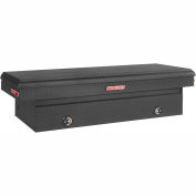 Weather Guard Saddle Truck Box, Matte Black Aluminum Full Extra Wide 15.3 Cu. Ft. - 117-52-02