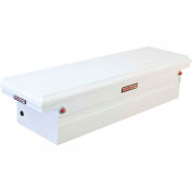 Weather Guard Saddle Truck Box, White Steel Full Low Profile 8.8 Cu. Ft. - 120-3-01
