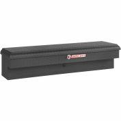 Weather Guard Lo-Side Truck Box, Matte Black Aluminum Standard 4.1 Cu. Ft. Capacity - 174-52-01