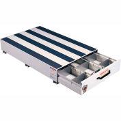 "Weather Guard PACK RAT® 3 Compartment Drawer Unit White, 48""L x 30""W x 9""H - 307-3"