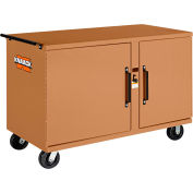 Knaack 58 Storagemaster® Heavy-Duty Rolling Work Bench, 1,000 Lbs, Steel, Tan