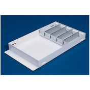 "Weather Guard Accessory Divider Tray 26-1/2""L x 14-5/8""W x 3""H, Steel White - 614-3"