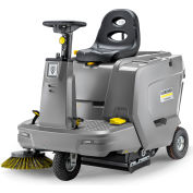 "Karcher Ride-On Floor Sweeper, 33-1/2"" Cleaning Path, KM85/50 R Bp, 1SB, 24 Volt Wet Cell"