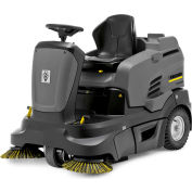 "Karcher Ride-On Floor Sweeper, 45"" Cleaning Path, KM 90/60 R Bp Adv, 2SB, 2x12V/215 Ah Wet Batteries"