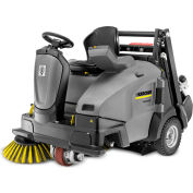 "Karcher Ride-On Floor Sweeper, 45"" Cleaning Path, KM 105/110 R Bp, 2RSB AGM 285 Ah Batteries"