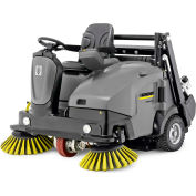 "Karcher Ride-On Floor Sweeper, 55"" Cleaning Path, KM 105/110 R Bp, 3SB Wet 295 Ah Batteries"