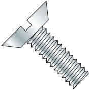 Made In USA 3-48X1/8  Slotted Flat Undercut Machine Screw Fully Threaded Zinc, Pkg of 10000