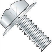4-40X1/4  Phillips Pan Square Cone Sems Fully Threaded Zinc, Pkg of 10000